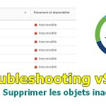 Troubleshooting vSAN : Corriger / Supprimer les objets inaccessibles